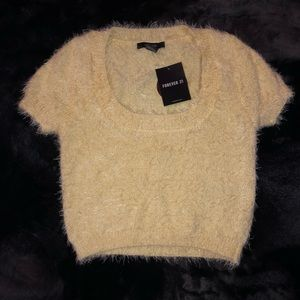 Forever 21 Fuzzy Sweater Crop Top